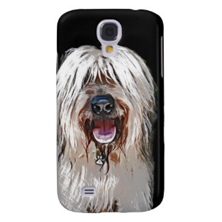 Smiling Briard Samsung Galaxy S4 Covers