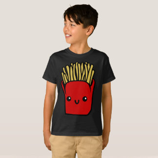 Smiling Bright Red French Fries Food Kids T-Shirt