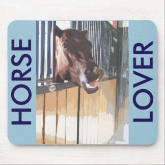 Smiling Brown Stable Horse Mouse Pad