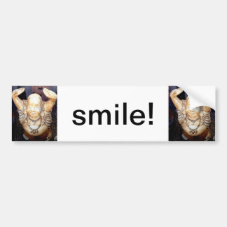 smiling buddha bumpersticker bumper sticker