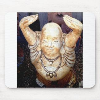 smiling buddha mousepad