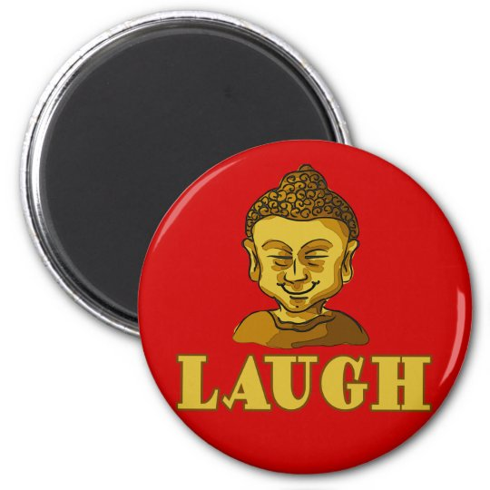 Smiling Buddha with Text LAUGH Tees and Gifts Magnet