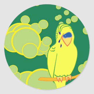 Smiling Budgie Sticker
