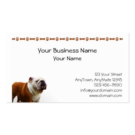 Smiling Bulldog Business Card