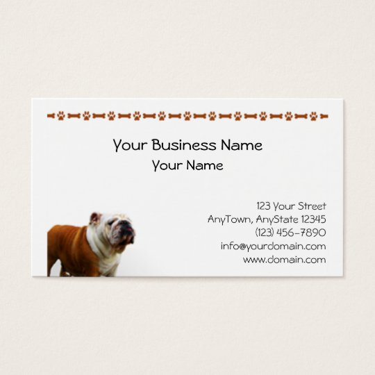 Smiling Bulldog Business Card
