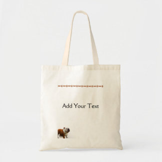 Smiling Bulldog Tote Bag