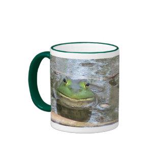 Smiling Bullfrog Ringer Mug