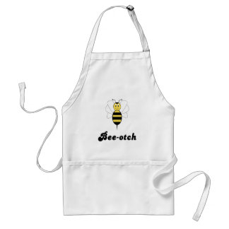 Smiling Bumble Bee Bee-otch Apron