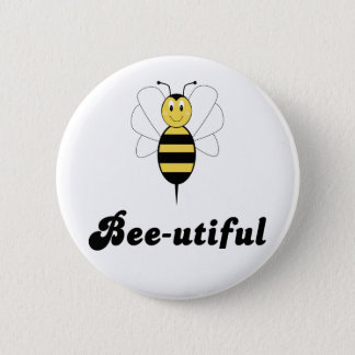 Smiling Bumble Bee Bee-utiful Button