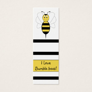 Smiling Bumble Bee Bookmark Mini Business Card