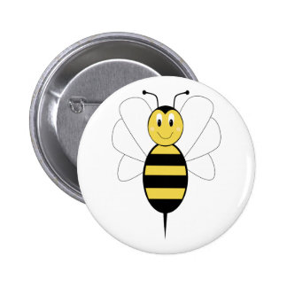 Smiling Bumble Bee Button
