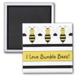 Smiling Bumble Bee Customizable Magnet
