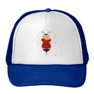 Smiling Bumble Bee Hugs Heart Trucker Hat