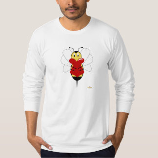 Smiling Bumble Bee Hugs Heart T-Shirt