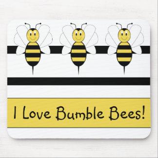 Smiling Bumble Bee Mousepad