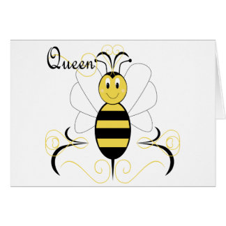 Smiling Bumble Bee Queen Bee Greeting Card