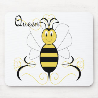 Smiling Bumble Bee Queen Bee Mousepad