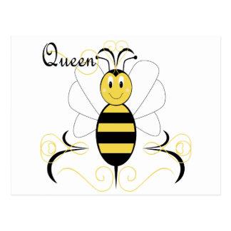 Smiling Bumble Bee Queen Bee Postcard