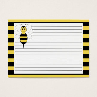 Smiling Bumble Bee Recipe Card