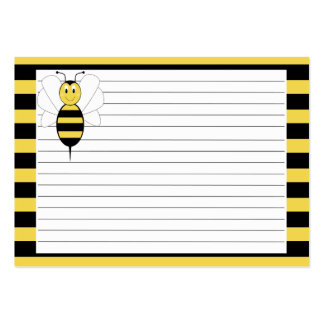 Smiling Bumble Bee Recipe Card Large Business Card