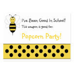 Smiling Bumble Bee School Coupon Large Business Cards (Pack Of 100)