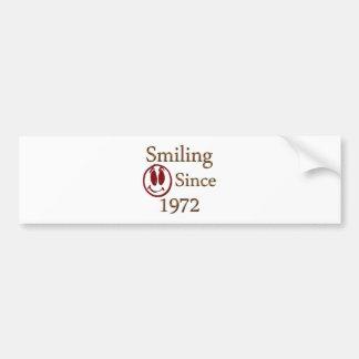 Smiling Bumper Sticker