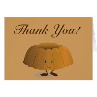 Smiling bundt cake thank you card