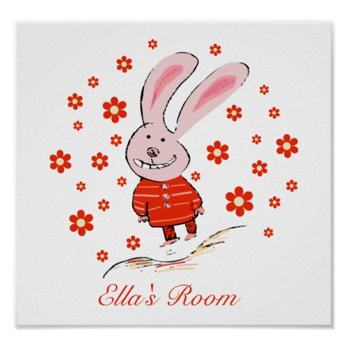 Smiling Bunny Poster