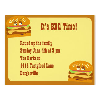 Smiling Burger BBQ Party Card