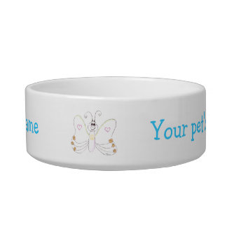 Smiling Butterfly customizable Pet Bowl