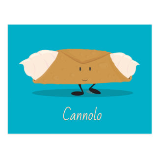 Smiling cannolo   Postcard