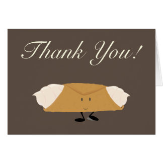 Smiling cannolo thank you card