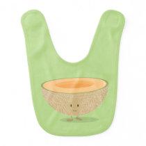 Smiling Cantaloupe Bib