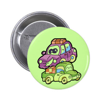 Smiling Car and Truck T-shirts and Gifts Button