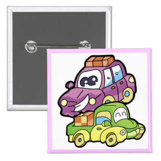 Smiling Car and Truck T-shirts and Gifts Pinback Buttons