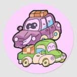 Smiling Car and Truck T-shirts and Gifts Round Sticker