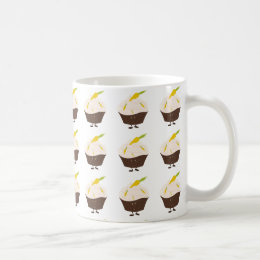 Smiling carrot cake cupcake coffee mug