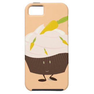 Smiling carrot cake cupcake iPhone SE/5/5s case