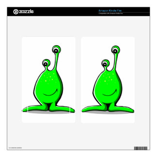 Smiling Cartoon Alien with Long Googly Eyes Skin For Kindle Fire