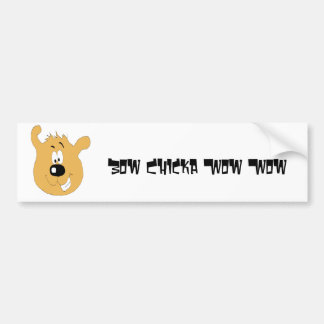 Smiling Cartoon Dog Car Bumper Sticker