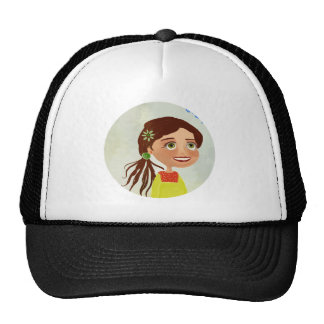 smiling cartoon girl Hat