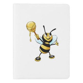 Smiling Cartoon Honey Bee Holding up Dipper Extra Large Moleskine Notebook