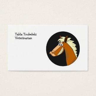 Smiling Cartoon Horse Business Card