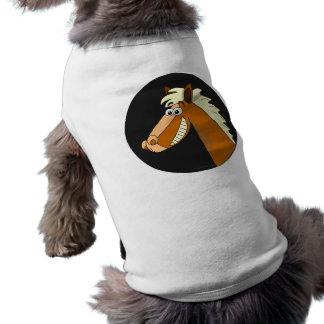 Smiling Cartoon Horse Pet Shirt
