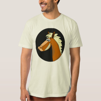 Smiling Cartoon Horse T-Shirt