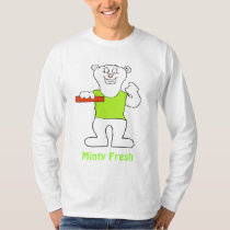 Smiling Cartoon Polar Bear T-Shirt