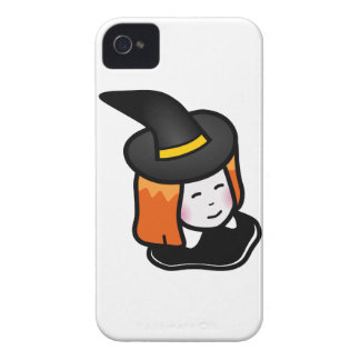Smiling Cartoon Redheaded Witch Wearing Pointy Hat iPhone 4 Case-Mate Cases