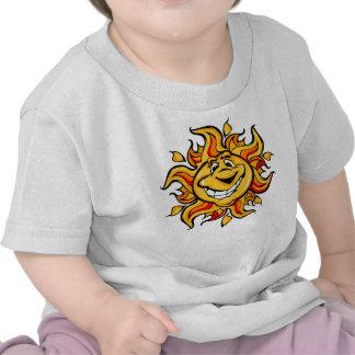 Smiling Cartoon Sun Baby T Shirt