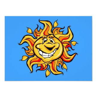 Smiling Cartoon Sun Invitations
