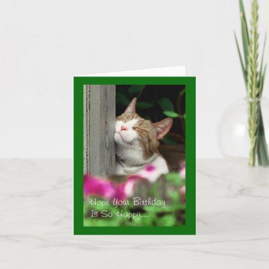 Smiling Cat Birthday Card Zazzle